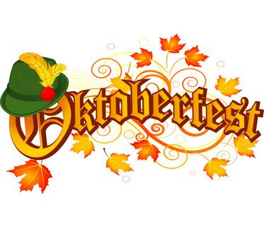 Oktoberfest celebration design with Bavarian hat and autumn leaves