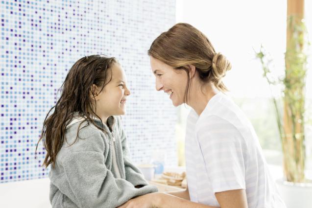 Gyerekwellness a fürdőszobában